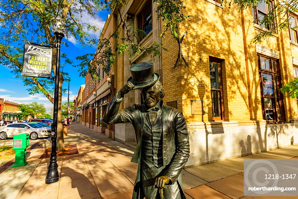 Statue of George Washington in Downtown of Rapid City, South Dakota, United States of America, North America