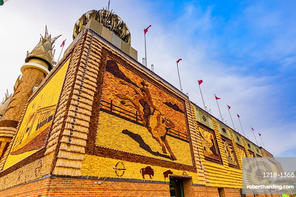 View of the exterior of the Corn Palace, Mitchell, South Dakota, United States of America, North America