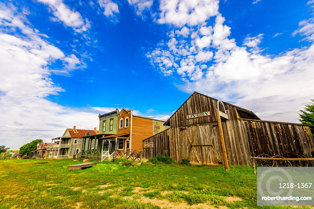 Historic roadside attraction, 1880 Town built to model a functioning town in the 1880s, Midland, South Dakota, United States of America, North America