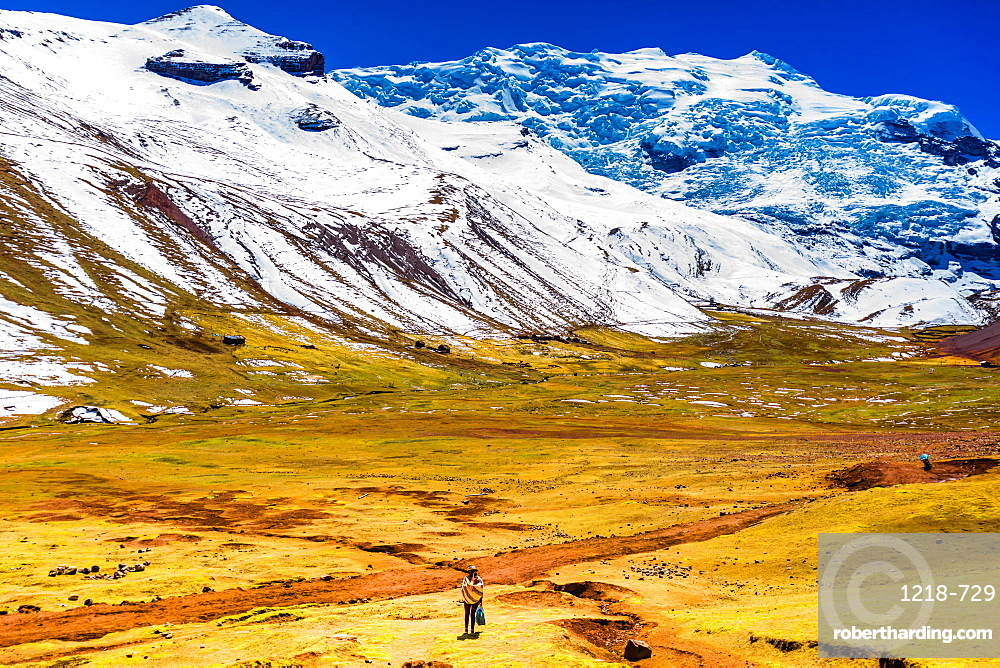 Rainbow Mountain chain in the Andes, Peru, South America