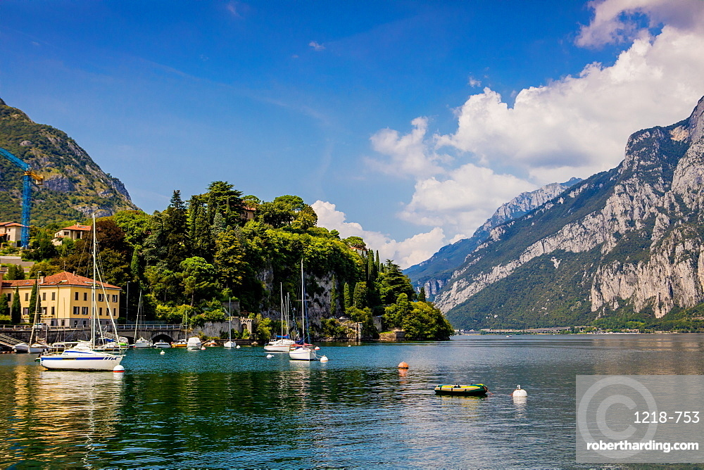 Scenic view from Castello di Rossino on Lake Como, Italian Lakes, Lombardy, Italy, Europe
