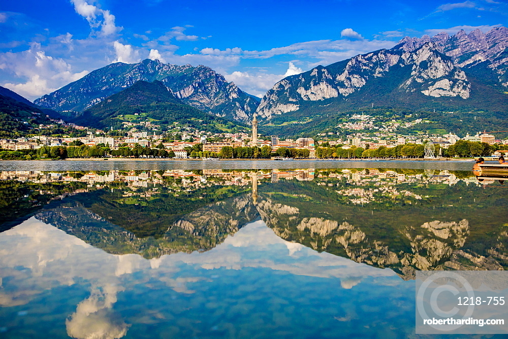 Scenic view from Castello di Rossino, Lake Como, Italian Lakes, Lombardy, Italy, Europe