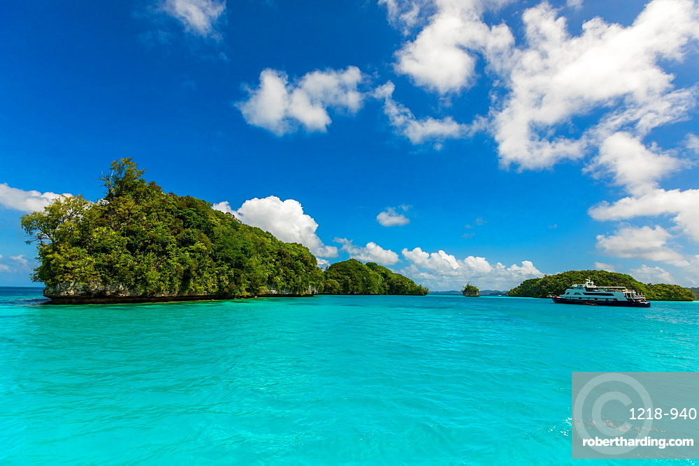 View of Koror's rock islands, Koror Island, Palau, Micronesia, Pacific