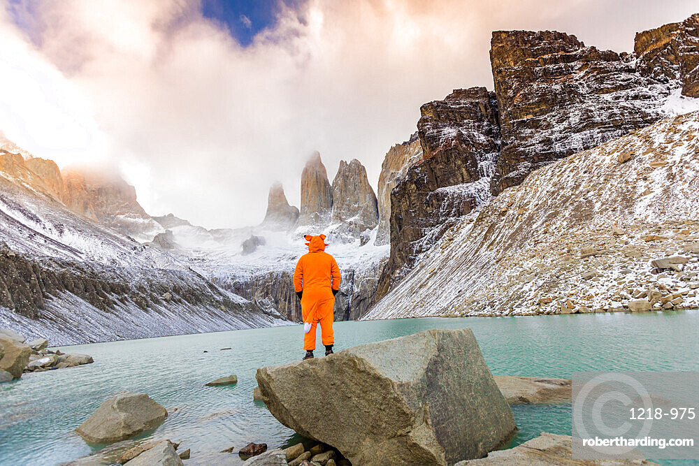 Enjoying the beautiful scenery in our andean fox onesies!