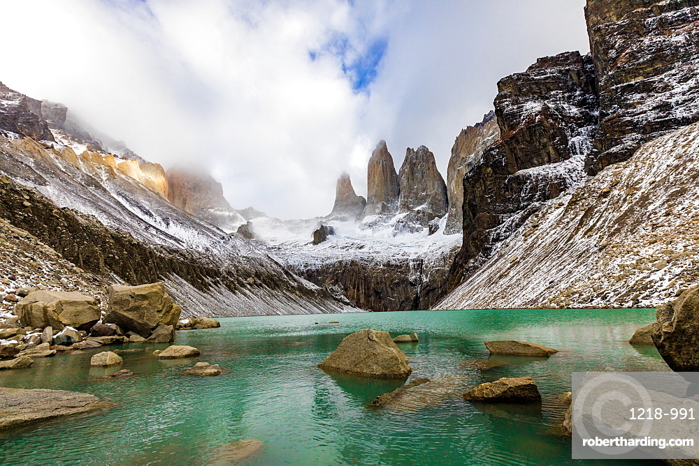 Stunning scenery of Glacial Lakes in Patagonia, Chile, South America