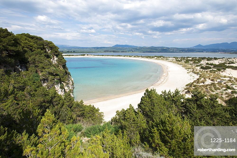 Voidokilia Beach in the Peloponnese, Greece, Europe