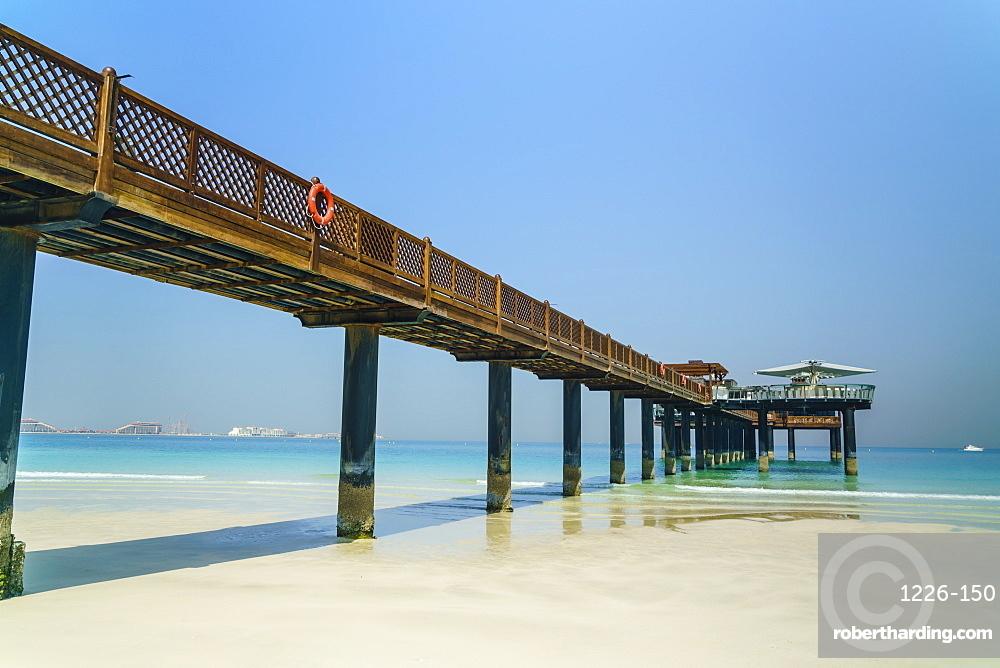 A pier on Jumeirah beach, Dubai, United Arab Emirates, Middle East