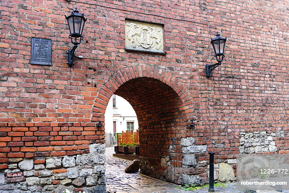 Original Old Town Wall gate, UNESCO World Heritage Site, Riga, Latvia, Europe