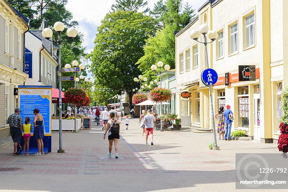 Jomas Street, Jurmala Beach, Gulf of Riga, Latvia, Europe