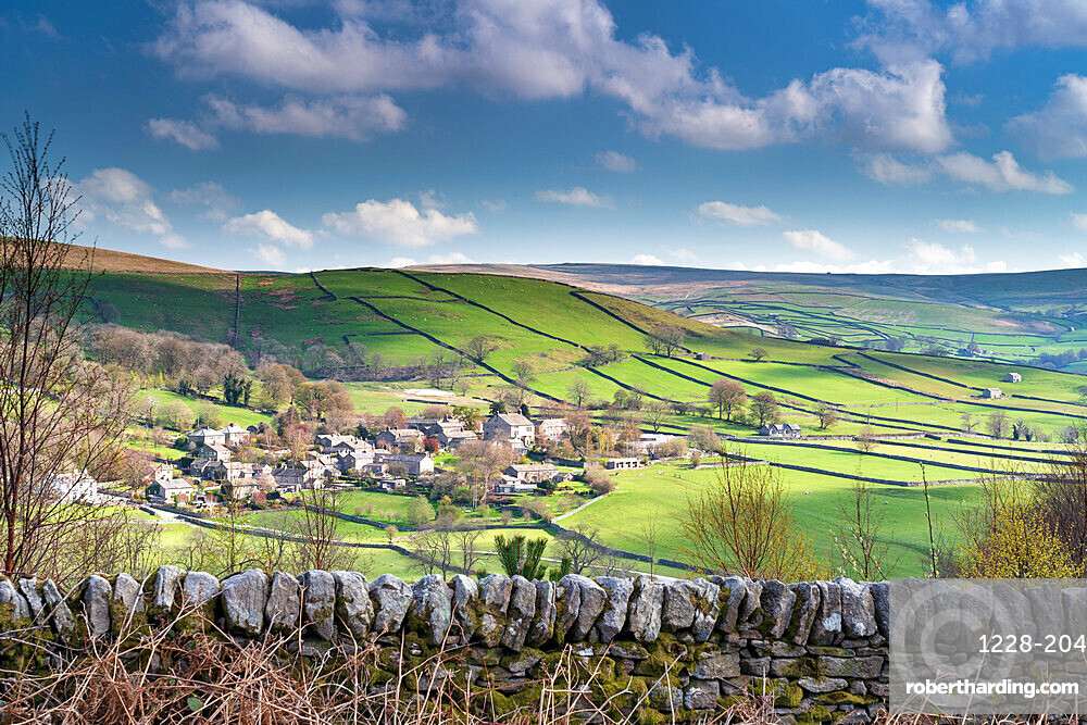 The pretty village of Appletreewick by the River Wharfe, The Yorkshire Dales, Yorkshire, England, United Kingdom, Europe
