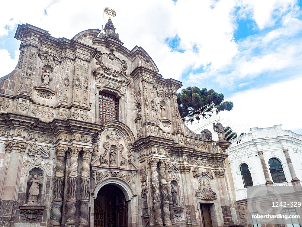 Compania de Jesus, 18th century Jesuit church, UNESCO World Heritage Site, Quito, Ecuador, South America