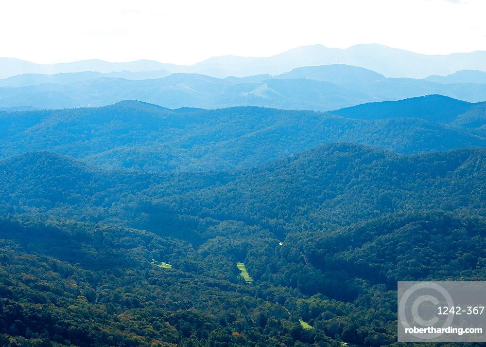 View of Blue Ridge Mountains, North Carolina, United States