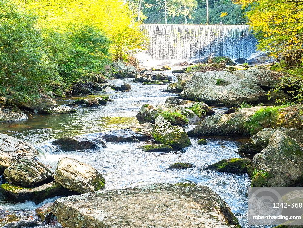 Waterfall, Blowing Rock, North Carolina, United States of America, North America