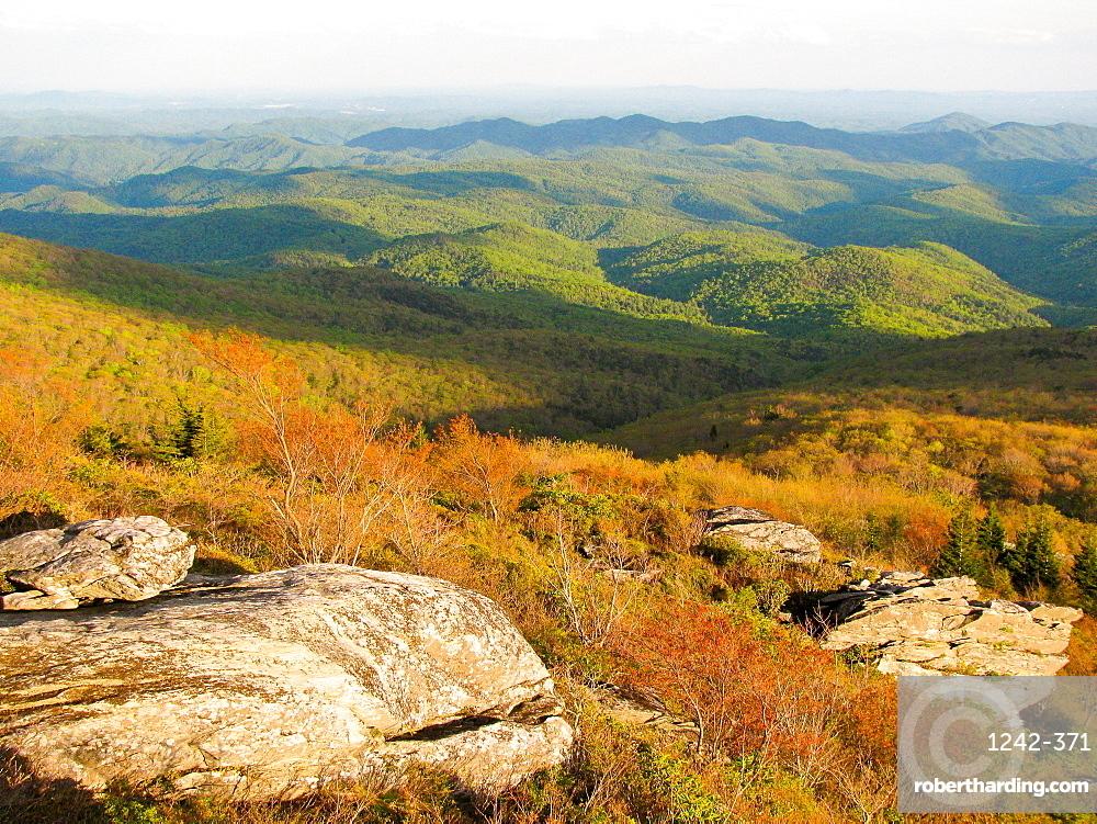 View of Blue Ridge Mountains, North Carolina, United States of America, North America