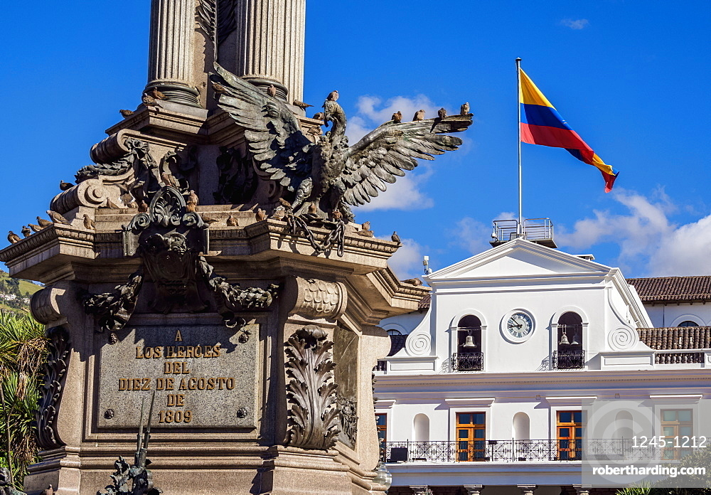 Carondelet Palace at Independence Square (Plaza Grande), Old Town, Quito, Pichincha Province, Ecuador, South America