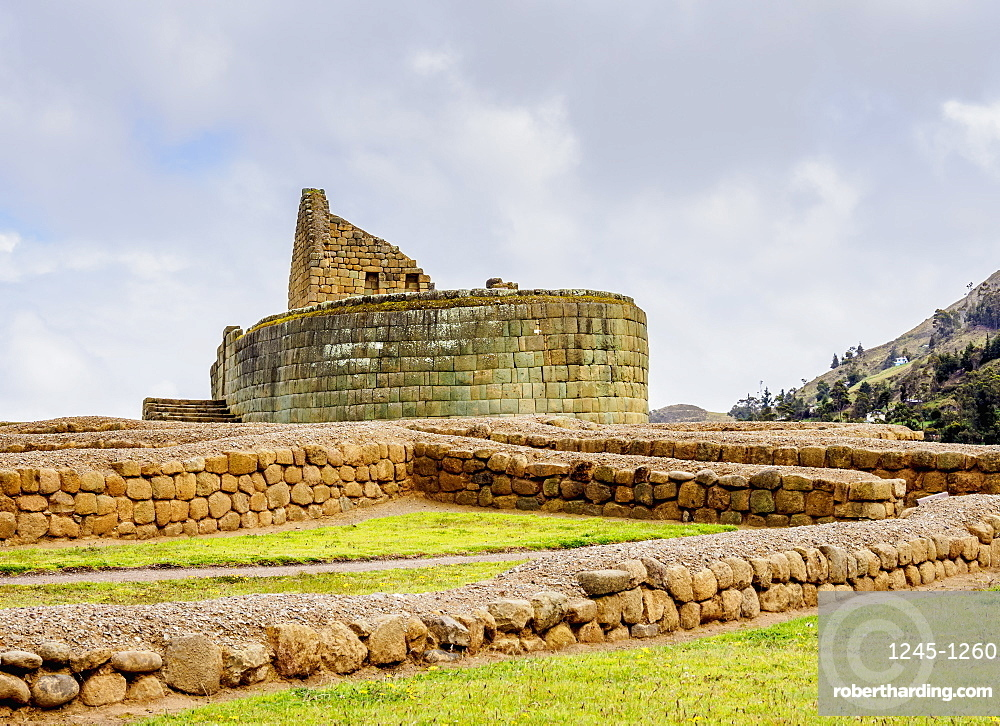 Temple of the Sun, Ingapirca Ruins, Ingapirca, Canar Province, Ecuador, South America