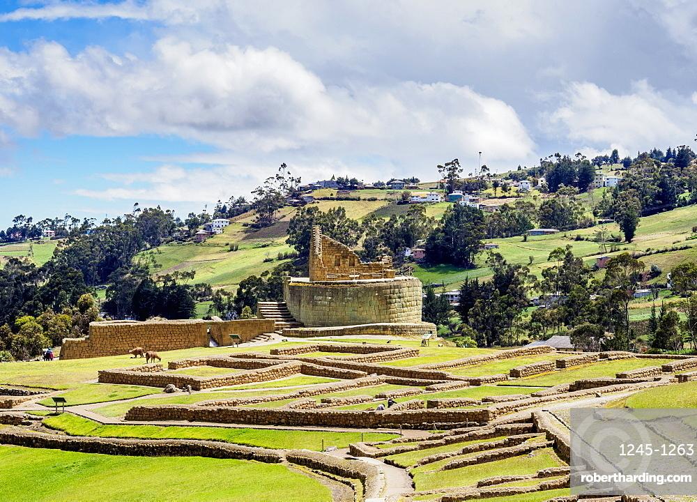 Temple of the Sun, Ingapirca Ruins, Ingapirca, Canar Province, Ecuador, South America