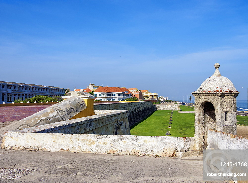 Old Town Walls, Cartagena, Bolivar Department, Colombia, South America