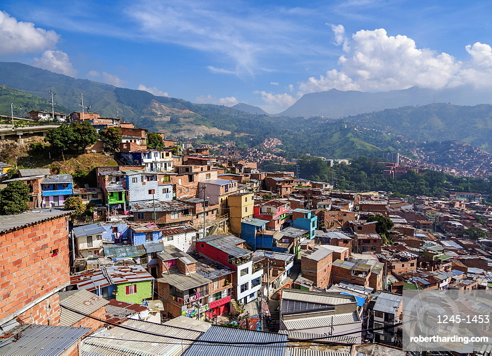 Comuna 13, elevated view, Medellin, Antioquia Department, Colombia, South America