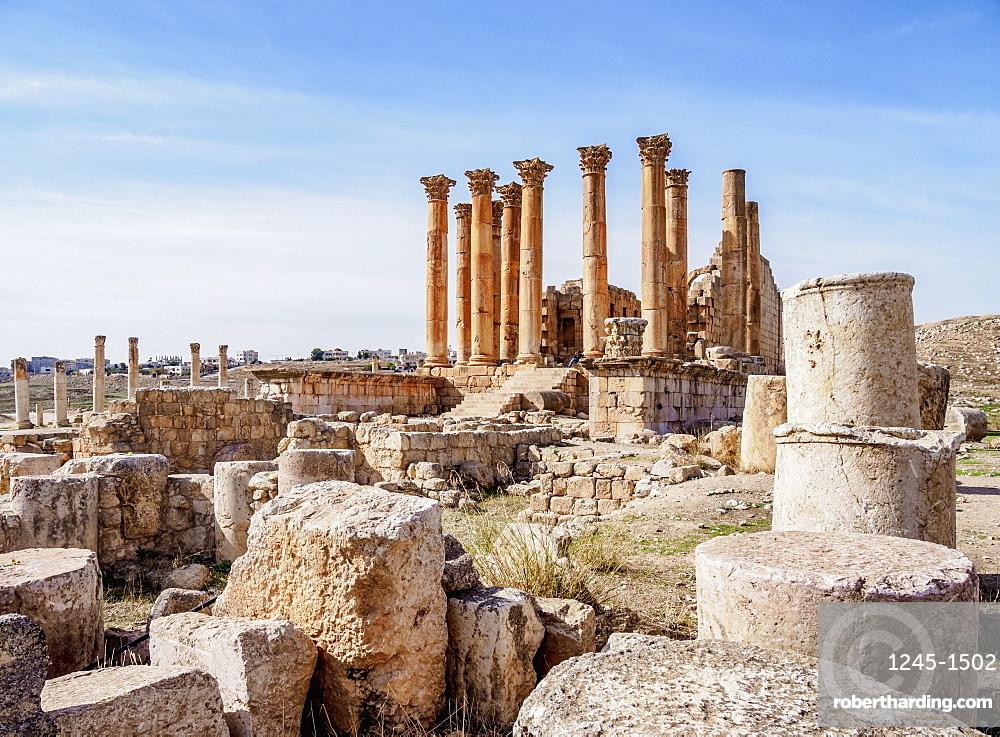 Temple of Artemis, Jerash, Jerash Governorate, Jordan, Middle East