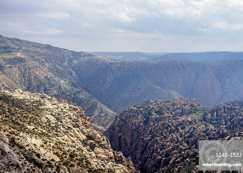 Dana Biosphere Reserve, elevated view, Tafilah Governorate, Jordan, Middle East