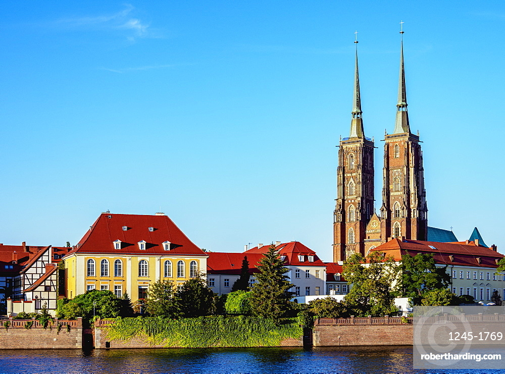 Cathedral and Archbishop Palace at Ostrow Tumski District, Wroclaw, Lower Silesian Voivodeship, Poland