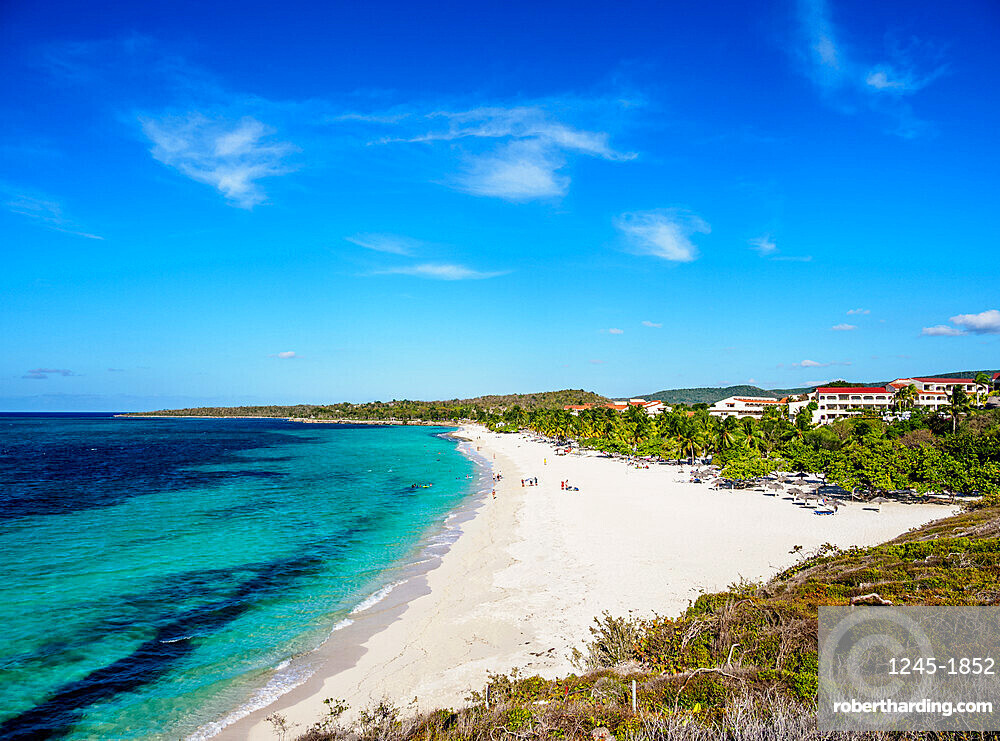 Playa Esmeralda, elevated view, Holguin Province, Cuba, West Indies, Caribbean, Central America