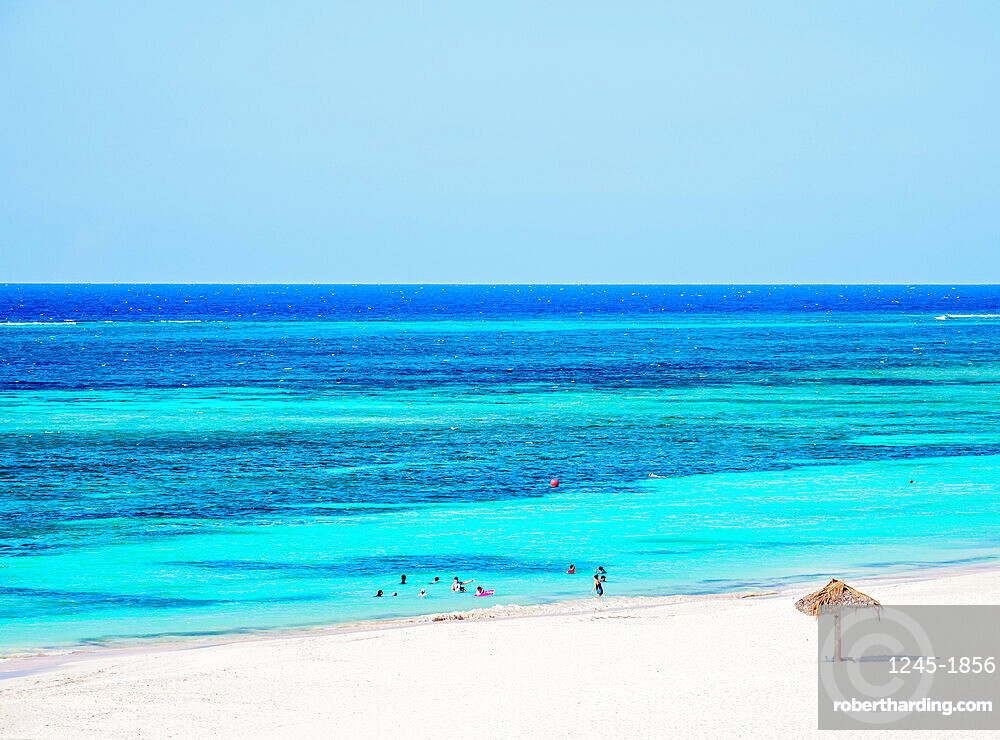 Guardalavaca Beach, elevated view, Holguin Province, Cuba, West Indies, Caribbean, Central America