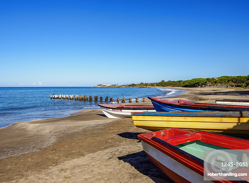 Fishing Boats at Great Bay Beach, Treasure Beach, Saint Elizabeth Parish, Jamaica