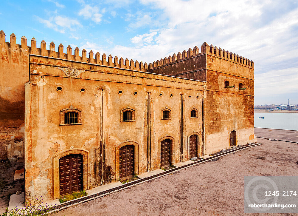 Defensive Walls of Kasbah of the Udayas, Rabat, Rabat-Sale-Kenitra Region, Morocco, North Africa, Africa