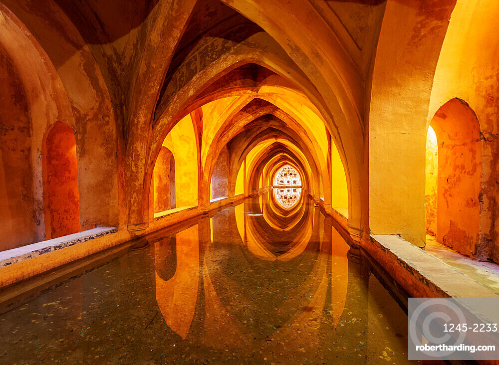 Banos de Dona Maria de Padilla, Baths of Lady Maria de Padilla in Alcazar, UNESCO World Heritage Site, Seville, Andalusia, Spain