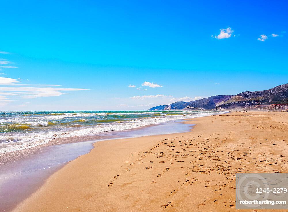 Beach in Castelldefels, a coastal town near Barcelona, Catalonia, Spain, Europe