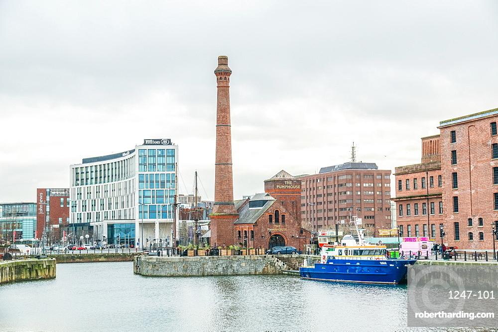Royal Albert Dock in Liverpool, England, Europe