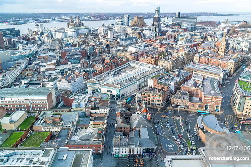 Cityscape of Liverpool, England, Europe