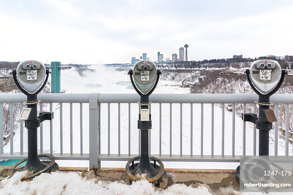 Coin operated binoculars at Niagara Falls, Buffalo, New York State, United States of America, North America