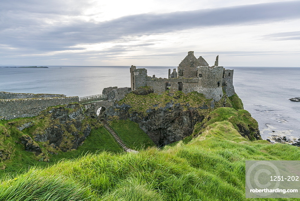 Dunluce Castle ruins, Bushmills, County Antrim, Ulster, Northern Ireland, United Kingdom, Europe