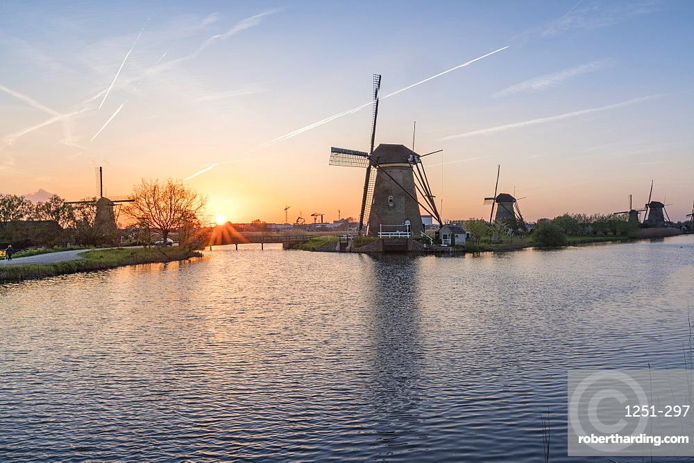 Kinderdijk, UNESCO World Heritage Site, Molenwaard municipality, South Holland province, Netherlands, Europe