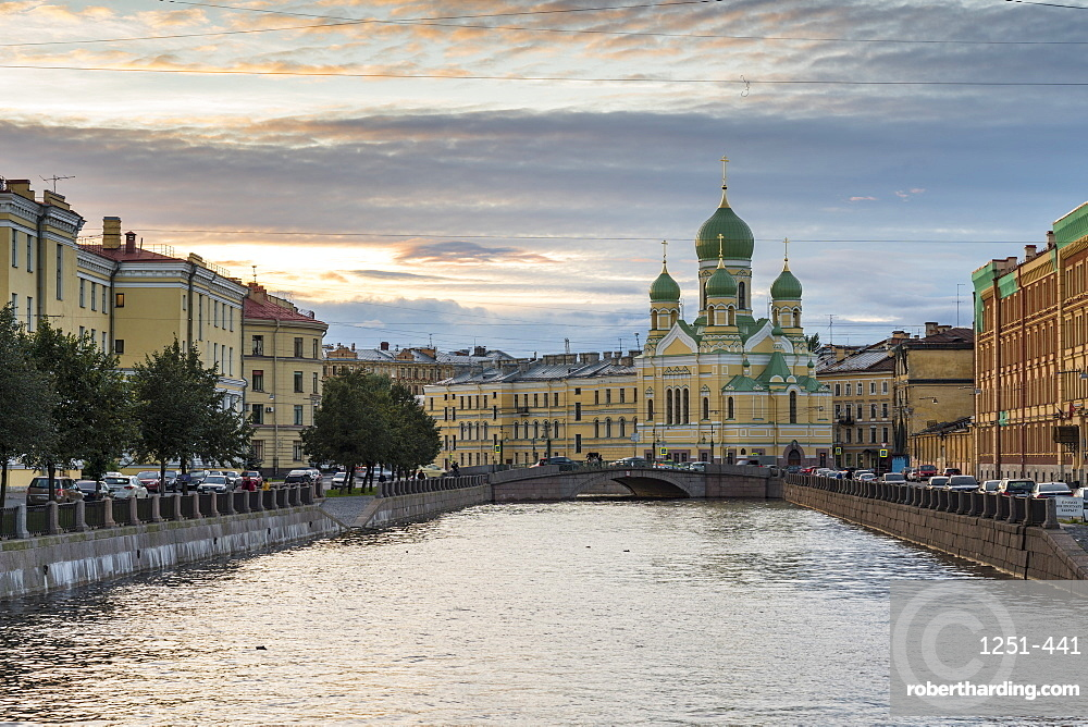 Cityscape with Church of St. Isidore in St. Petersburg, Russia, Europe