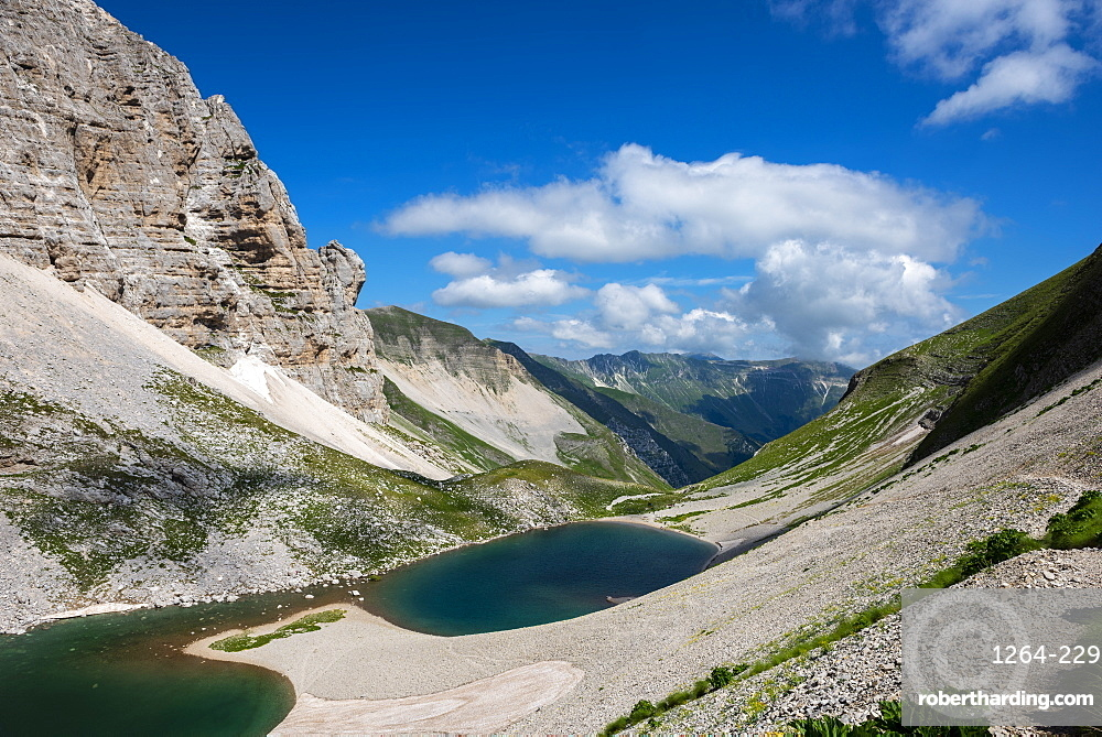 Lake Pilato by Sibillini Mountains in Italy, Europe