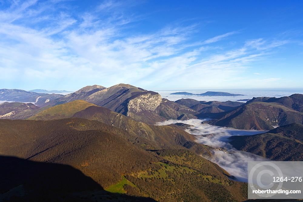 Mount Catria at sunrise, Apennines, Umbria, Italy, Europe