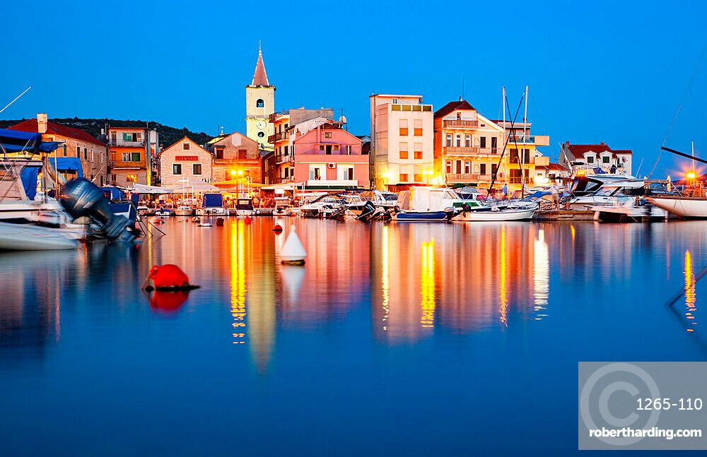 Pirovac by night, Croatia, Europe