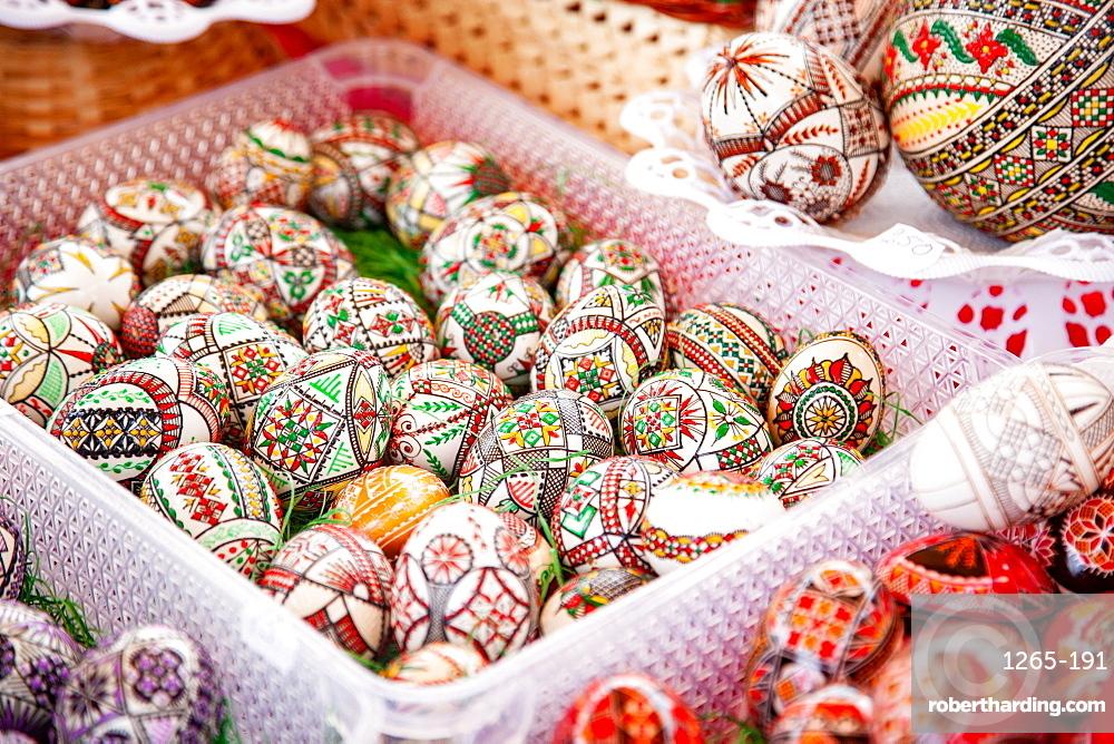 Traditional painted Easter eggs, Transylvania, Romania, Europe