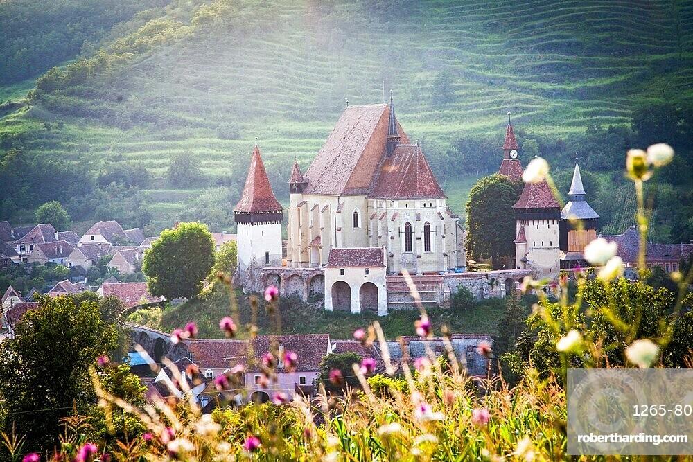 Lutheran fortified church in Biertan (Birthalm), Sibiu County, in the Transylvania region of Romania, Europe