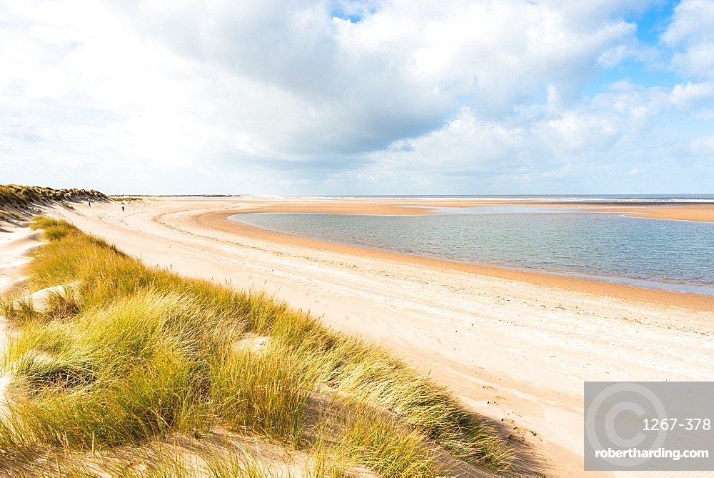 Norfolk Coast Path National Trail at Holkham Bay, Norfolk, East Anglia, England, United Kingdom, Europe