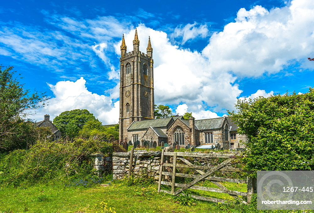 St. Pancras Church, Widecombe in the Moor village, in the Dartmoor National Park, Devon, England, United Kingdom, Europe
