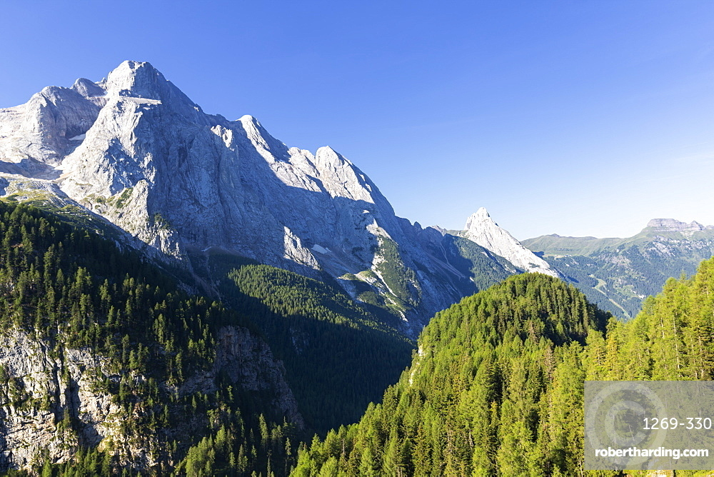 Gran Vernel and Colac, Fassa Valley, Trentino, Dolomites, Italy, Europe