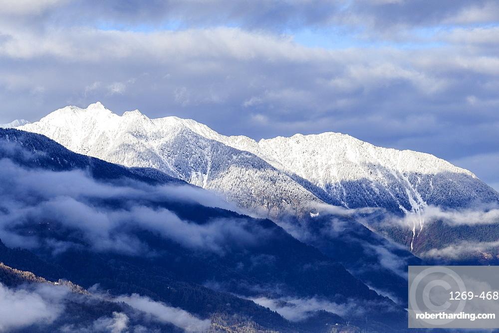 Orobie Alps after a snowfall, Valtellina, Sondrio province, Lombardy, Italy, Europe