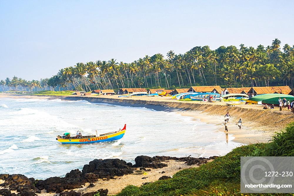 Kappil Beach fishing village, Varkala, Kerala, India, Asia