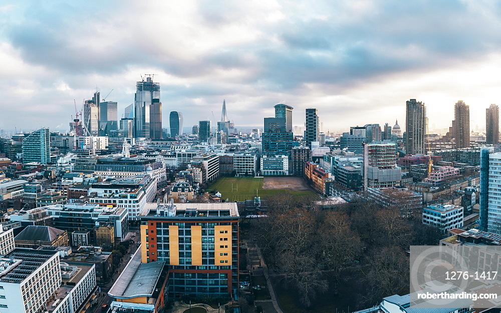 City of London financial district skyline, London, England, United Kingdom, Europe