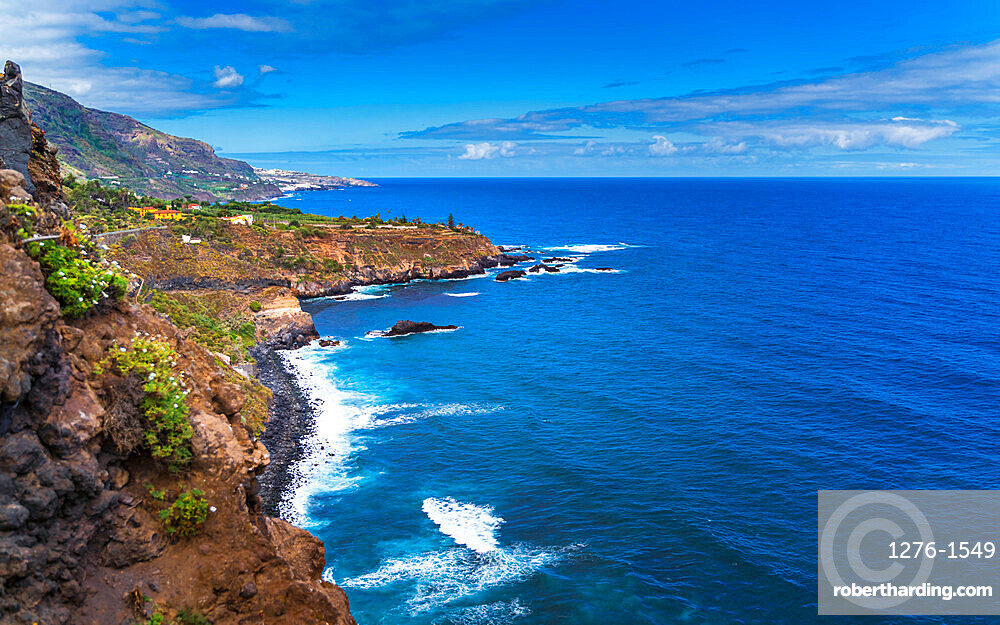 The coastline of Los Realejos in Tenerife, Canary Islands, Spain, Europe
